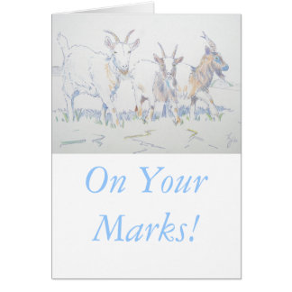 On your marks greeting card
