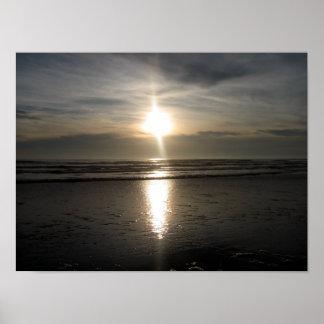 Ona Beach Coastline Sunset Poster