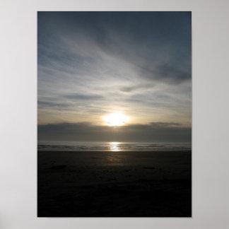 Ona Beach Sunset and Beach Junk Poster