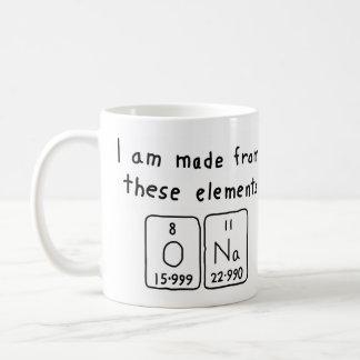 Ona periodic table name mug