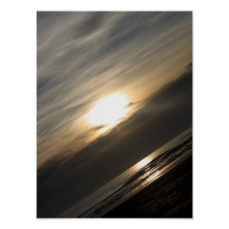 Ona sunset Perspective Angled Poster