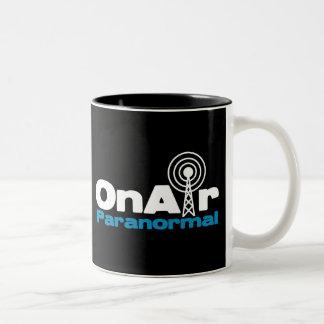 OnAir Paranormal Logo for Dark Colors Two-Tone Coffee Mug