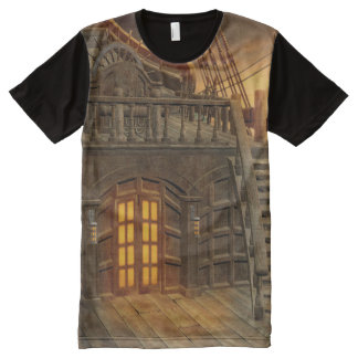 Onboard Pirate Ship All-Over Print T-shirt