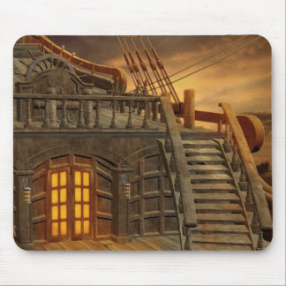 Onboard Pirate Ship Mouse Pad
