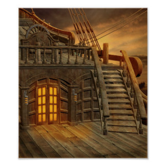 Onboard Pirate Ship Poster