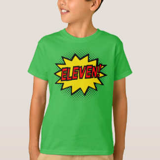 ¡ONCE! 11mo Camiseta del logotipo del super héroe Playera