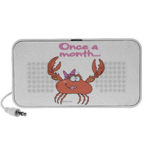 once a month crabby crab girl iPhone speakers
