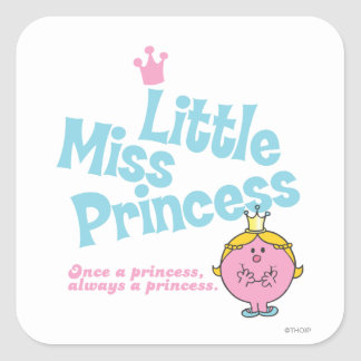 Once A Princess Square Sticker