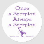 Once a Scorpion Classic Round Sticker