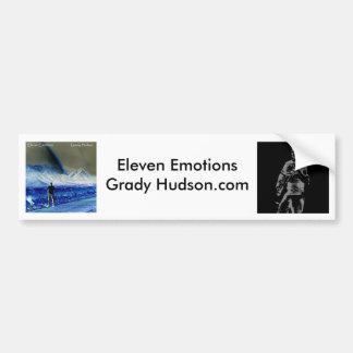 Once emociones/pegatina para el parachoques de Gra Pegatina De Parachoque