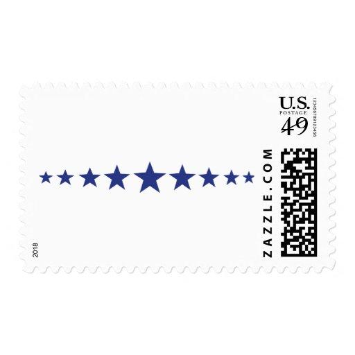 once estrellas azules sello
