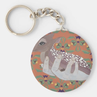 Once Fawn Basic Round Button Keychain