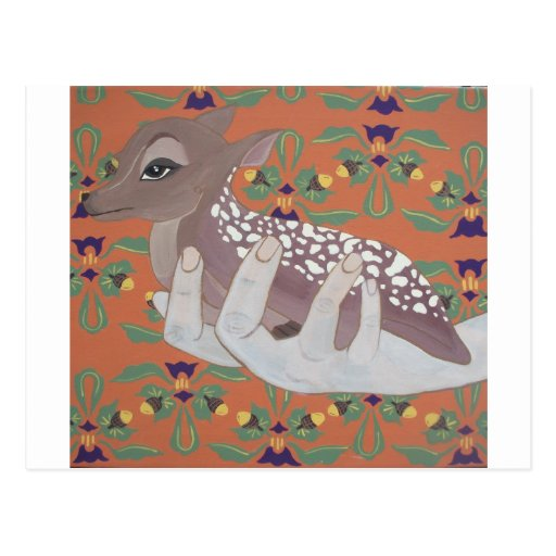 Once Fawn Post Card