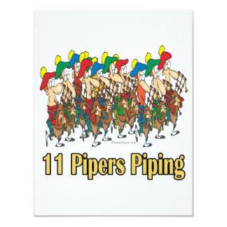 """once gaiteros que instalan tubos el 11mo día de invitación 4.25"""" x 5.5"""""""