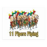 once gaiteros que instalan tubos el 11mo día de na postales