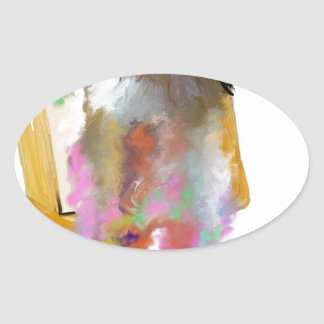 Once Imagined_Painting.jpg Oval Stickers