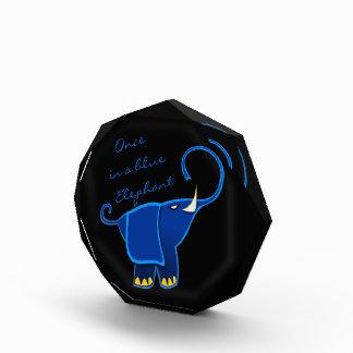 Once in a blue Elephant Acrylic Award