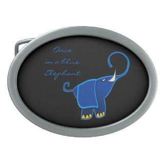 Once in a blue Elephant Belt Buckles