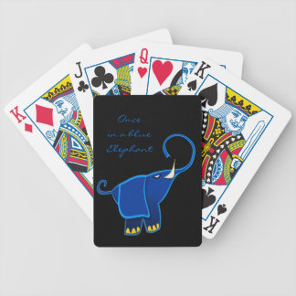 Once in a blue Elephant Bicycle Poker Deck