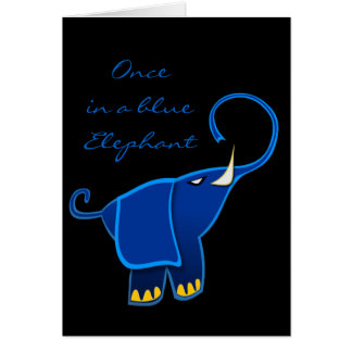 Once in a blue Elephant Greeting Card