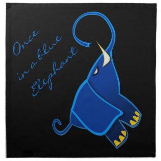 Once in a blue Elephant Cloth Napkins