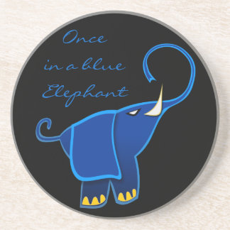 Once in a blue Elephant Beverage Coasters