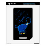 Once in a blue Elephant Decals For NOOK Color