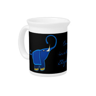 Once in a blue Elephant Drink Pitchers