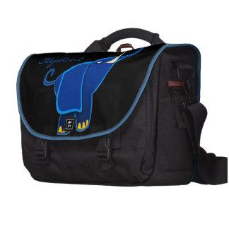 Once in a blue Elephant Laptop Messenger Bag