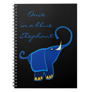 Once in a blue Elephant Spiral Note Books