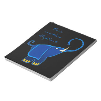 Once in a blue Elephant Notepads