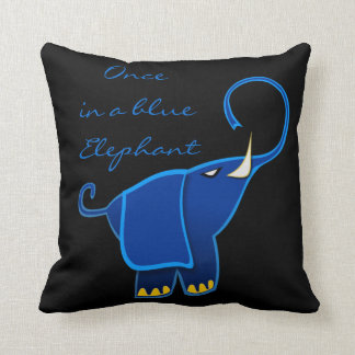 Once in a blue Elephant Pillow
