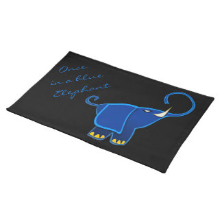 Once in a blue Elephant Cloth Place Mat