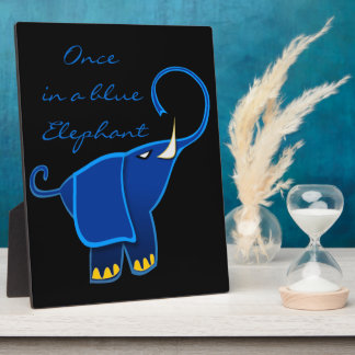 Once in a blue Elephant Photo Plaques