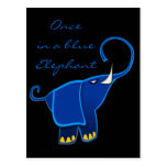 Once in a blue Elephant Postcard