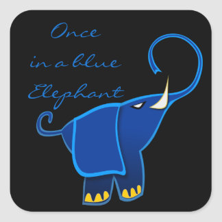 Once in a blue Elephant Square Sticker