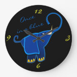 Once in a blue Elephant Wall Clock