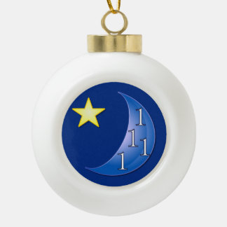 Once in a Blue Moon Ceramic Ball Christmas Ornament