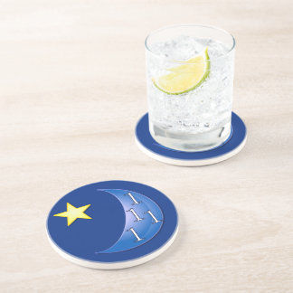 Once in a Blue Moon Drink Coaster