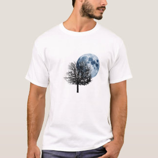 Once in a Blue Moon - full moon tree nature T-Shirt