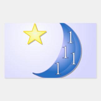 Once in a Blue Moon Rectangular Sticker