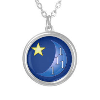 Once in a Blue Moon Silver Plated Necklace