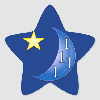 Once in a Blue Moon Star Sticker