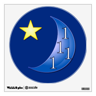 Once in a Blue Moon Wall Decal