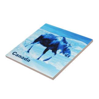 Once In A Blue Moose Ceramic Tile