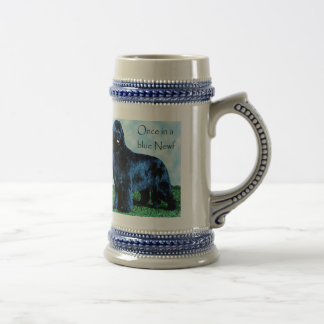 Once in a blue Newf beer stein Mugs