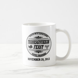 Once in a Lifetime Thanksgivukkah Classic White Coffee Mug