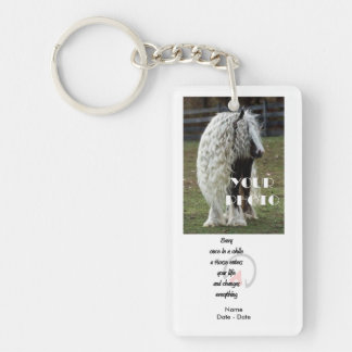 Once In A While (Horse) Pet Memorial Keychain