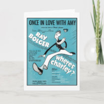 Once In Love With Amy Songbook Cover Card