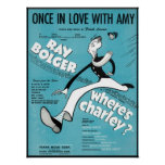 Once In Love With Amy Songbook Cover Poster